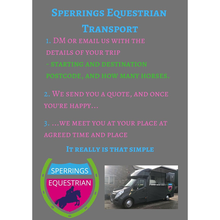 Transport - Our horsebox and trailer hire flyer